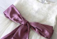 White Flower Girl's Dress by Dear Mimi - Flower Girl's Dress