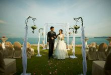 Outdoor Wedding With Magnificent View by Sentosa Golf Club
