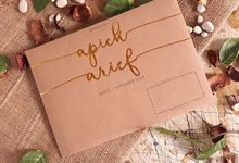 Undangan Rustic Single Board dan Amplop by Paper Love