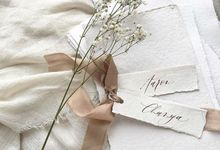 Place card and menu  by Pensée invitation & stationery