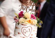 Birch Wood Wedding Cake by YUCA Creations