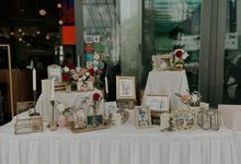 Romantic Red Reception Photo Display at Empress Asian Civilisation Museum by Lily & Co.