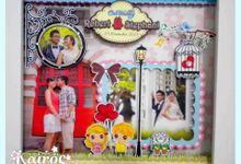 Robert & Stephani Wedding 3D photo frame by Kairos Wedding Invitation