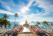 Fairytale wedding decoration at conrad koh samui by BLISS Events & Weddings Thailand
