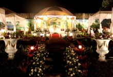 Garden Wedding at Night by Casa De Carlo