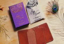 Agus & Venessa - Leather Passport Sleeve by Rove Gift