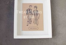"""The Bride and Groom"" Series - 1st edition, printed and framed by TweakyThings"