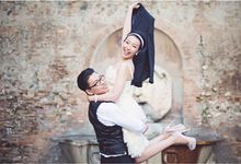 pre -wedding photo shoot in Rome italy by HAIR AND MAKEUP IN ROME ITALY