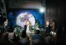 Written in the Stars -- Cosmic Wedding for Maya and Jelle by Daria Vlasenko weddings