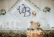 Modern Style Wedding Cake by YUCA Creations