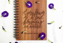 Wooden Notebook by Letter By Bee