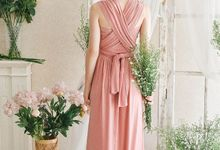 Infinity Dress 1 dress can be styled in many ways by upper east bridesmaid