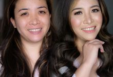 Before and after photos by SEKA Makeup Artist