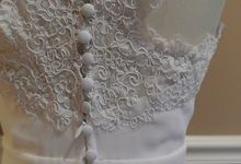 Reconstructed Wedding Gown by Krys Marie Designs