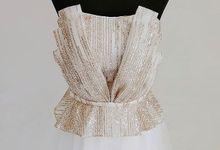 Shell Bustier Gown by Agatha Cinthia