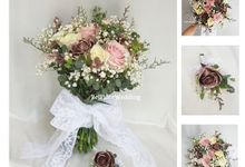 Rose Gold Wedding Flower by Belfiore Florist