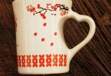 MUG F MINI LOVE WEDDING RYAN & TIARA by Mug-App Wedding Souvenir