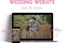 Wedding Invitation Mia & Riyan by Hadiryaa (Web & Mobile Invitation)
