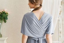 Infinity dress, one dress can be styled in 20 ways by upper east bridesmaid