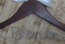 Bridesmaids Hanger by Béllicimo Personalized Hanger & Favors