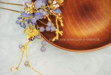 Hydrangea Chinese Hairstick by Belle La_vie