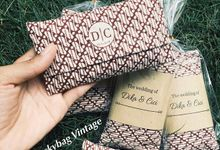 Cover tisue canvas Mini // DIKA - CICI WEDDING by Packy Bag Vintage
