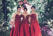 Sister's of Bride and Grooms by Gianina Atelier