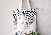 Totebag blacu (calico) pattern // Yesti Gift by Packy Bag Vintage