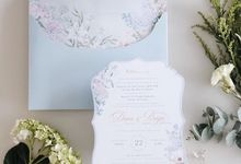 Pastel floral illustration for the invitation Such a refreshment by Tapestry Invitation
