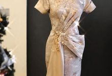 Gold Theme Dress by Berta Chandra Couture
