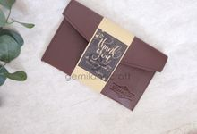 Premium envelope packaging roll paper for Yusri & Iqbal by Gemilang Craft
