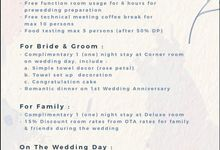 Wedding Package 2020 by Art Deco Luxury Hotel Ciumbeleuit Bandung