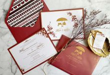 Mandailing Maroon by Trouvaille Invitation