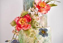 Wildflower meadow cake by Haute Cakes Singapore