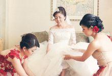 HENGKY + SHIERLA WEDDING DAY  -  MULIA RESORT BALI by fotovela wedding portraiture