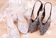 Sandal Selop Elouis Silver by SLIGHTshop.com