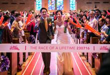 Lincoln and Romona Marathon Themed Wedding by Yours Fetefully