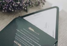Cause green is a classy color by Tapestry Invitation