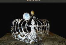 Maha Ratih Dahana Crown for Puteri Indonesia Bali by The Glint & Glaze
