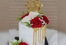 Engagement Cake by Evergreen Cake Boutique