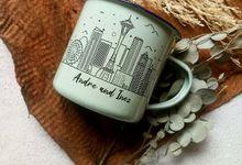 Enamel Mug 8cm Souvenir Rustic by Rusticlatte