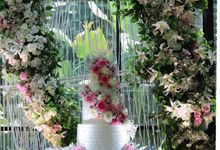 Real Wedding Cake by Evergreen Cake Boutique
