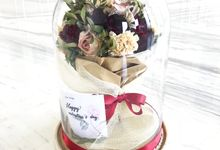Dome Valentines day Bouquet by CONSERVÉ FLOWER PRESERVATION