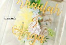 Khaulah & Arga Wedding Ring Box by Coruscant.id