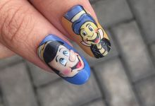 Characters Gel nail art by Spotted Nails