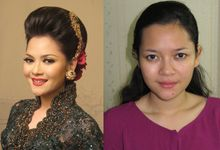 Before - After MakeUp & Hair Do by Andiyanto Salon