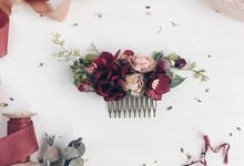 Flower hair comb by Serenity Wedding