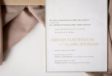 The Wedding of Ashton & Claire by Artemis Creation