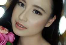 Light Makeup for Bride Jessie  by valentinemakeupart
