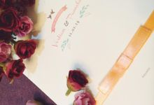 Peachy Tiffany Wedding by PAM'S INVITATIONS & STATIONERY